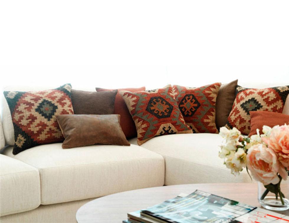 Cojines modernos para sofas finest plaid para sof with - Fundas cojines sofa ...