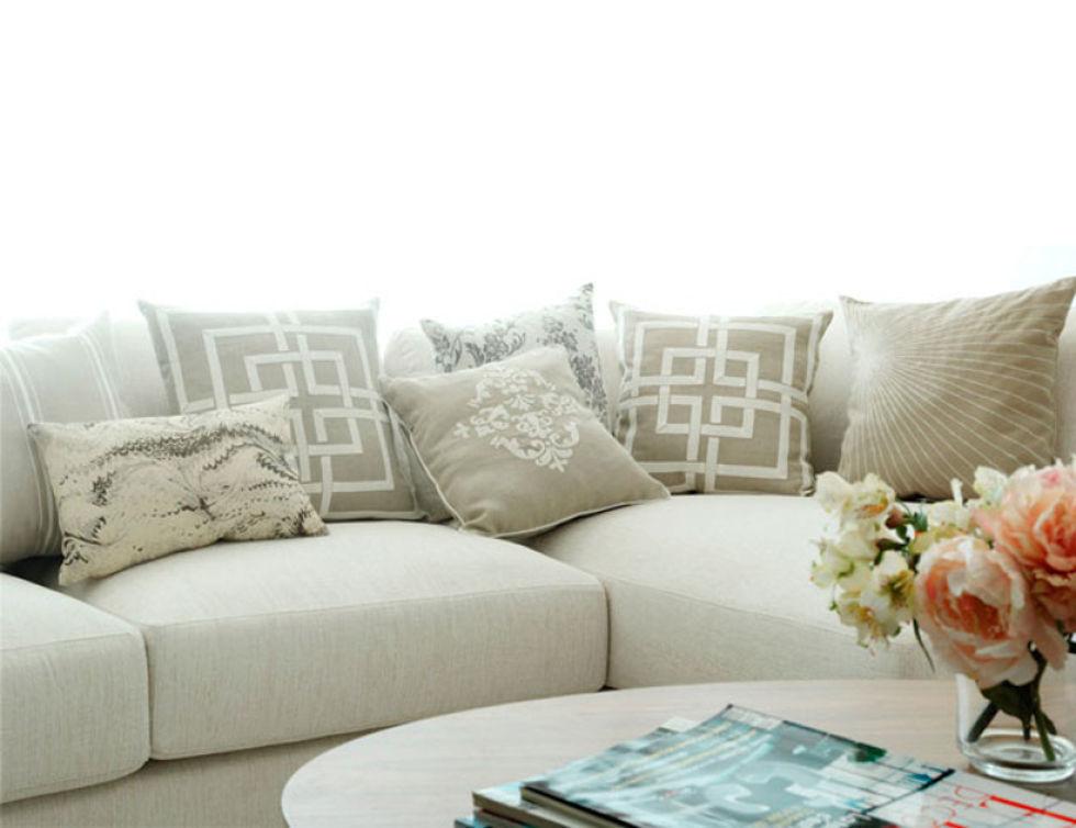 Ideas de cojines para sofas color naranja casa dise o - Hacer cojines para sofa ...