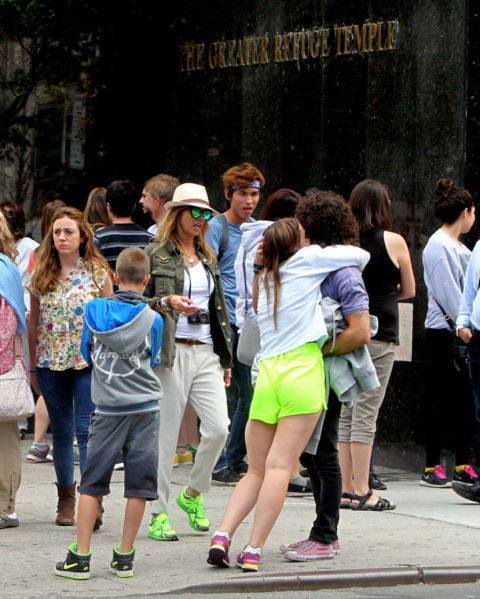 Arantxa de benito de turismo con su novio e hijos en nueva york - Oficina de turismo nueva york ...