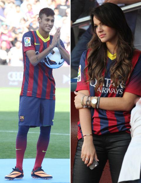 Neymar y su esposa