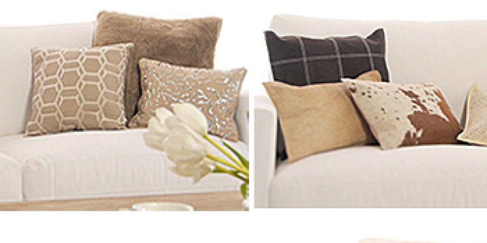 Cambia el look de tu hogar jugando con cojines - Cojines para sofas de piel ...