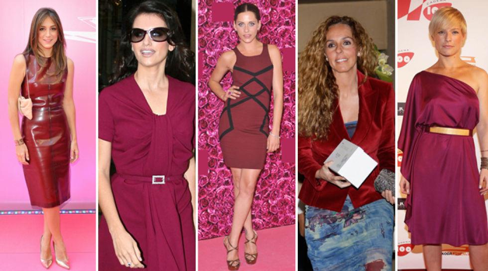 Encantador Vino Vestidos De Dama De Color Rojo Ideas Ornamento ...