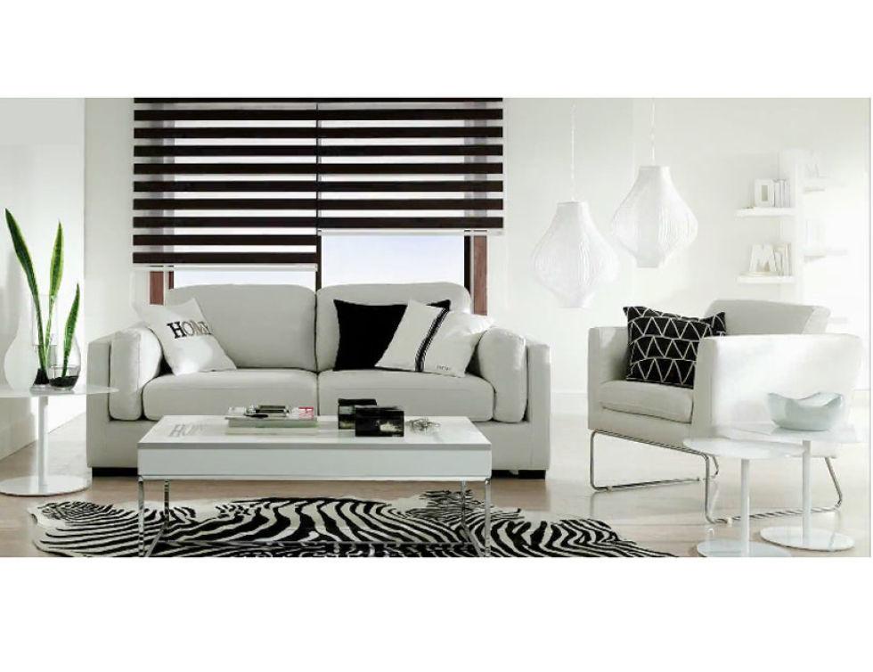 Estores para salones excellent decoracin para salones - Salones en blanco y negro ...