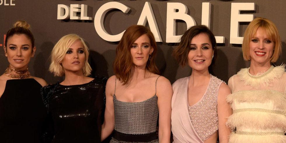 las chicas del cable' arropadas por amigos y parejas en el estreno
